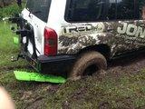 set TRED 1100 4x4 4WD rijplaten - zandplaten army legergroen_