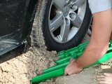 set TRED 1100 4x4 4WD rijplaten - zandplaten  fel groen_