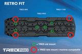 TRED PRO 4x4  4WD rijplaten - zandplaten fel groen_