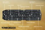 set TRED PRO 4x4  4WD rijplaten - zandplaten blauw_