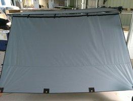 KOALA CREEK® EXPLORER luifel zijwand grijs 200x200 cm.  Rip-Stop polyester/katoen