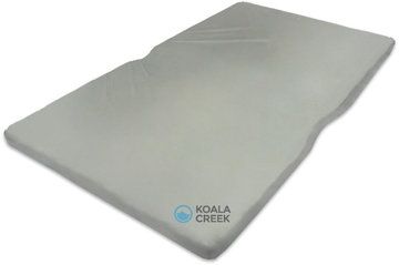 KOALA CREEK® 140 DAKTENT matras ca. 140X240 CM SG40, ca. 6 cm. dik met grijze hoes.