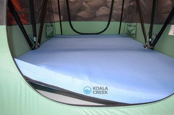 KOALA CREEK® DAKTENT grijze matrashoes afwasbaar ca. 160-165x240x 6 cm. met rits