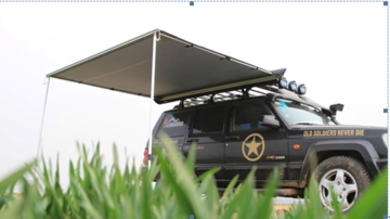 KOALA CREEK®  LR EXPLORER luifel grijs 250x250 cm.  Rip-Stop polyester/katoen