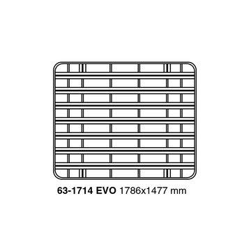 UPRACKS roofrack - dakrek 179 X 148 cm. zwart aluminium, voorzien van T-gleuven.