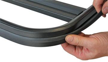 UPRACKS 63-A016 Dakrekrand T gleuf PVC rubber profiel (profiel om dakrek)