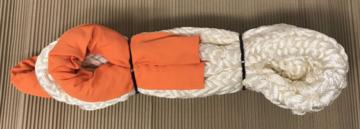 KERR kinetisch touw 8 meter 12 ton (wit/oranje)