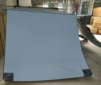 KOALA CREEK® LR EXPLORER luifel voorwand grijs 200x200 cm.  Rip-Stop polyester/katoen