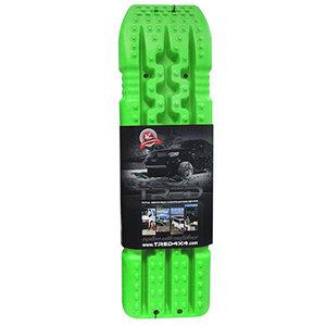 set TRED 1100 4x4 4WD rijplaten - zandplaten  fel groen
